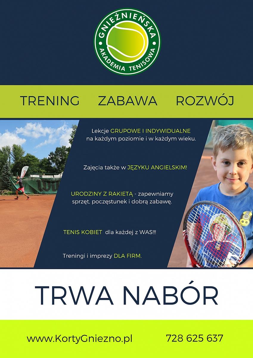 Spróbuj swoich sił w tenisie ziemnym! Trwa nabór do akademii!