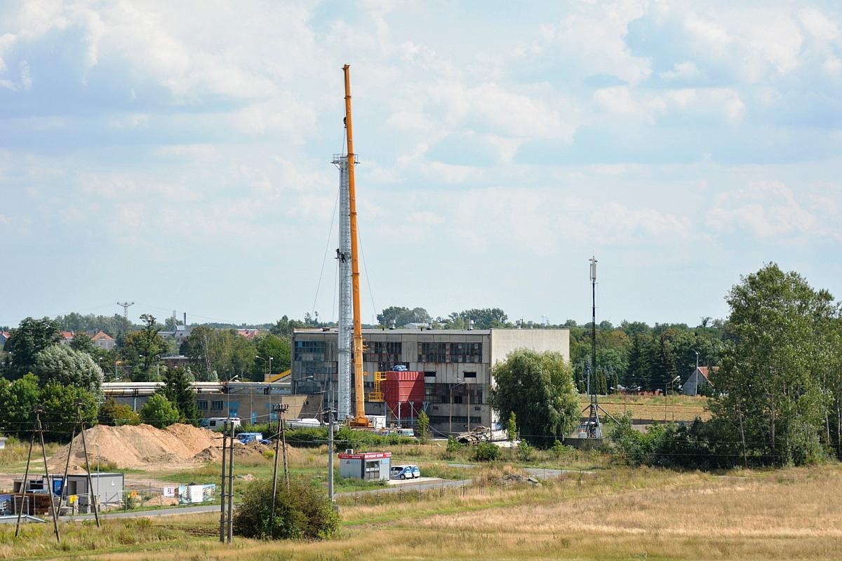 Ciepłownia C-14 przy ul. Rzepichy z nowym kominem