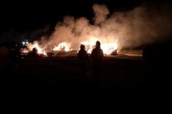 Podpalacz w Dębnicy! Podłożył ogień co kilkadziesiąt metrów