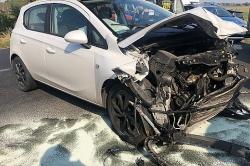 Wypadek koło Karczewka! Trzy auta rozbite