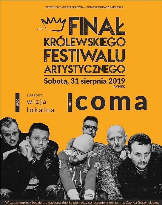 Koncert Comy zakończy KFA 2019