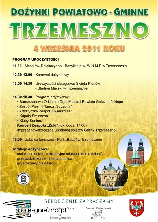 Dożynki powiatowo-gminne w Trzemesznie
