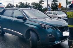 Zderzenie trzech aut na Trasie Zjazdu Gnieźnieńskiego