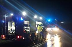 Pożar samochodu dostawczego w Żydowie