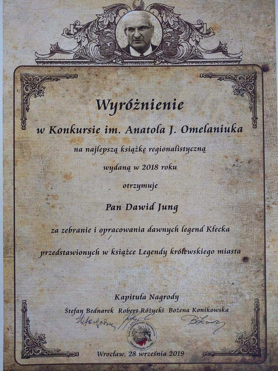 Legendy Kłecka wyróżnione we Wrocławiu