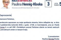 Spotkanie otwarte z posłanką Pauliną Hennig-Kloską w Czerniejewie