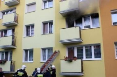 Groźny pożar mieszkania w Trzemesznie!