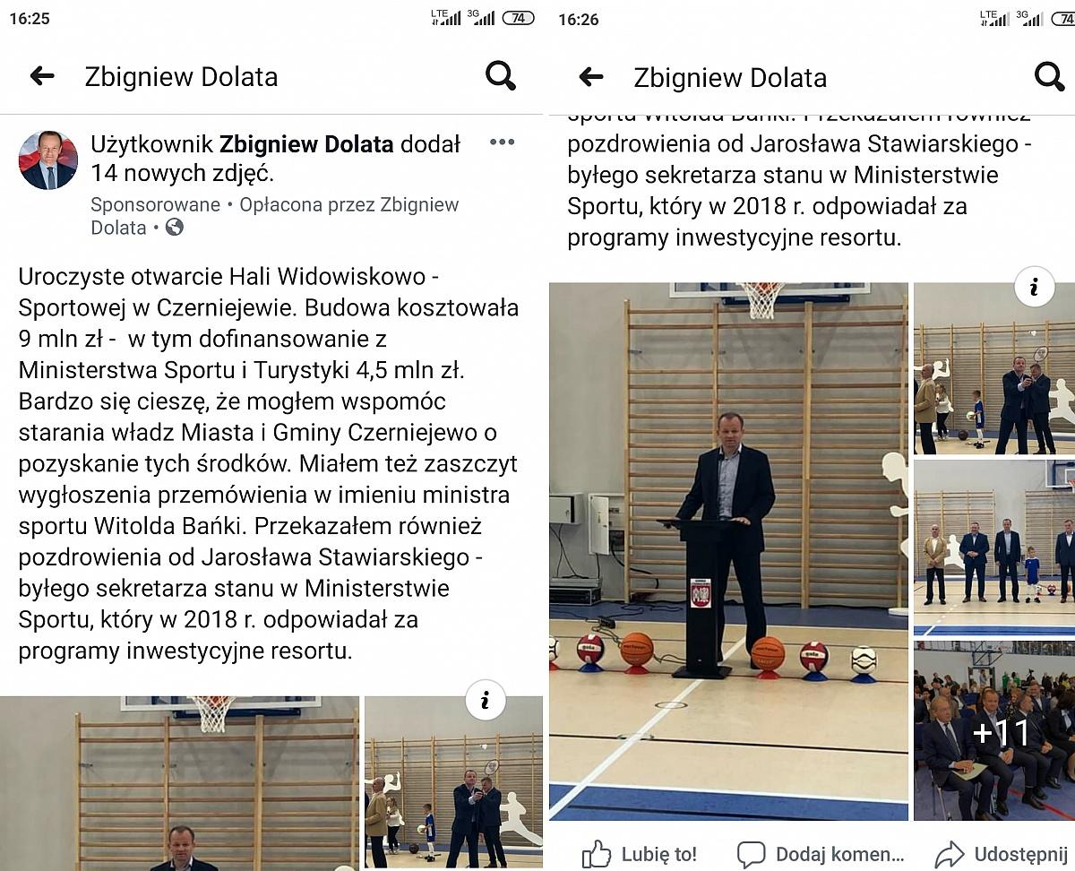 Poseł Zbigniew Dolata złamał ciszę wyborczą? Policja prowadzi postępowanie