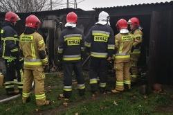Pożar garażu w Łubowie
