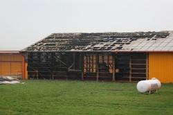 Drugi pożar hali w Lubiniu