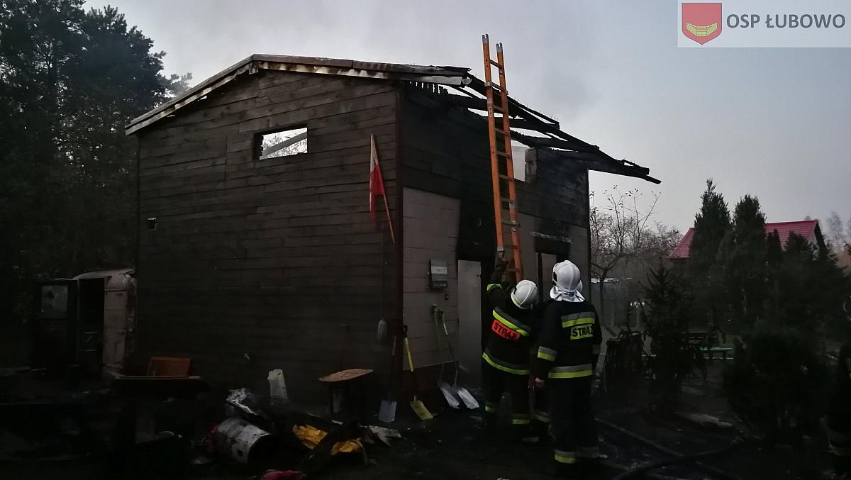 Pożar domu w Imielnie