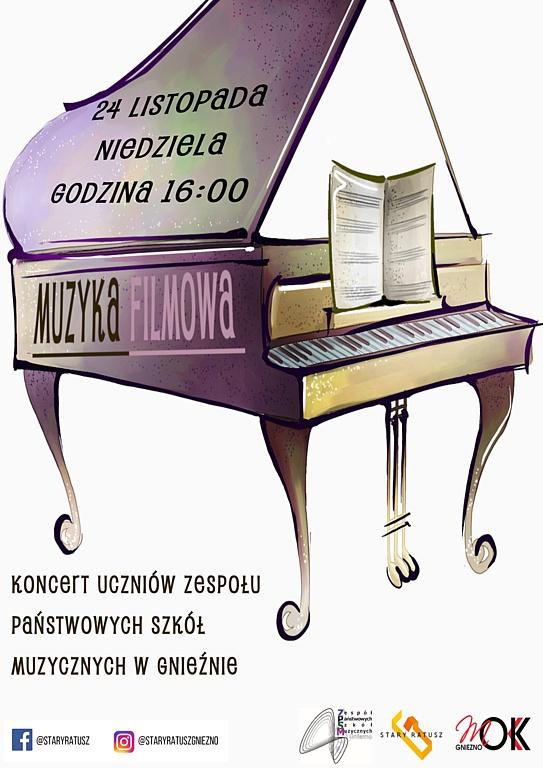 Muzyka filmowa - koncert uczniów ZPSM w Gnieźnie