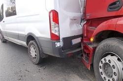 Zderzenie trzech samochodów w Żydowie