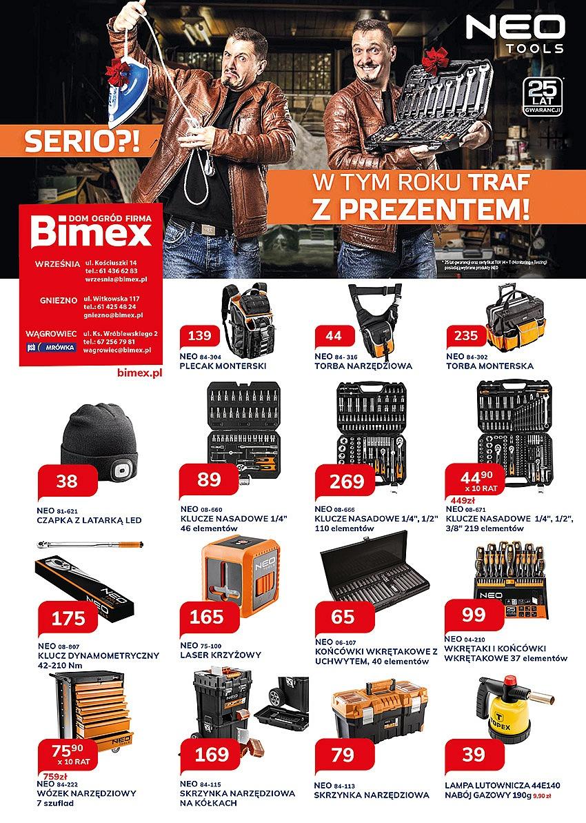 Najnowsza gazetka promocyjna sklepów Bimex