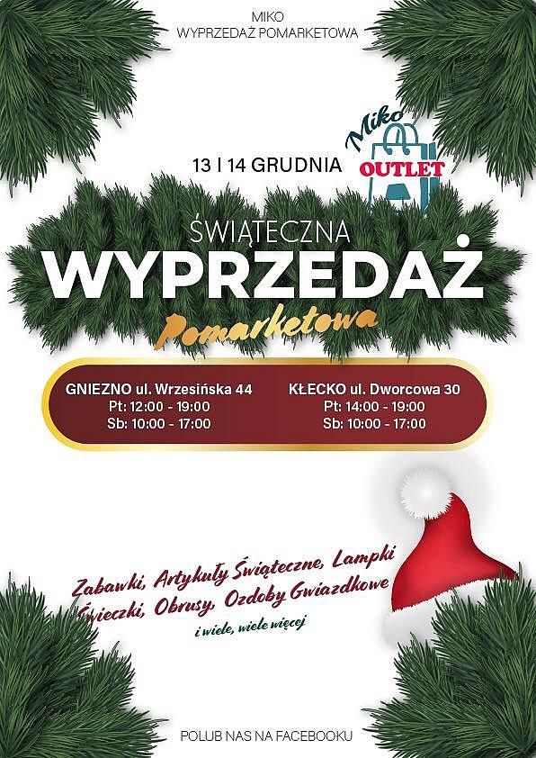 Już w piątek i sobotę świąteczne promocje w MIKO wyprzedaże pomarketowe!