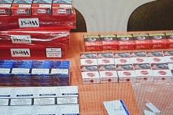 Policjanci zabezpieczyli nielegalne papierosy i krajankę tytoniową