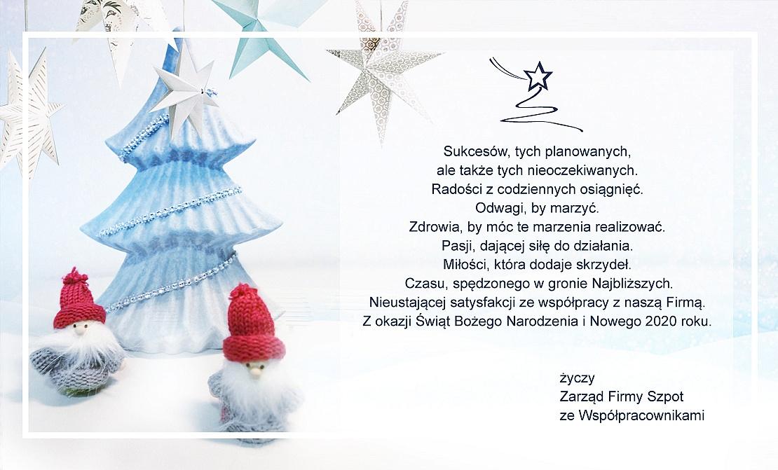 Życzenia świąteczne od firmy Szpot