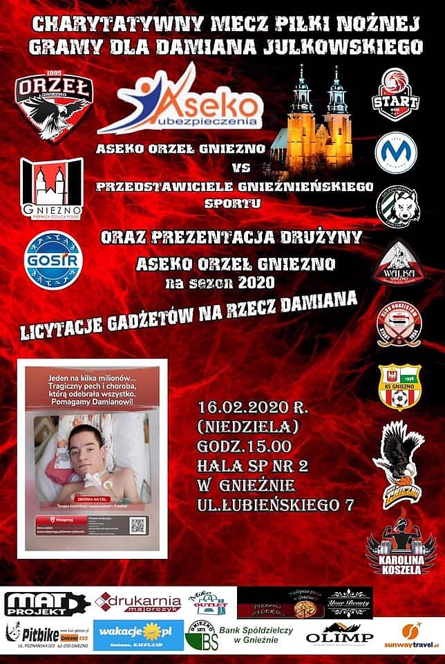 Charytatywny mecz dla Damiana Julkowskiego