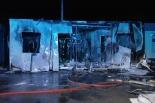 Pożar baraku w Pakszynku