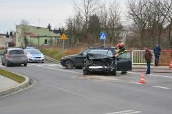 Wypadek na skrzyżowaniu ul. Osiniec i Kawiary