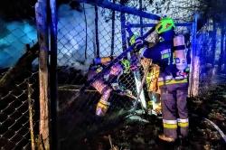 Spłonęło 40 rowerów wodnych! Zagrożony pożarem był las w Skorzęcinie!