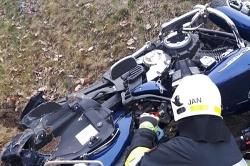 Wypadek motocyklisty przy węźle w Mielnie