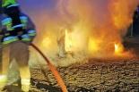 Pożar auta w Wierzycach