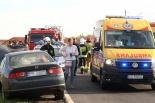 Czołowe zderzenie w Lubiniu! Dwie osoby w szpitalu!