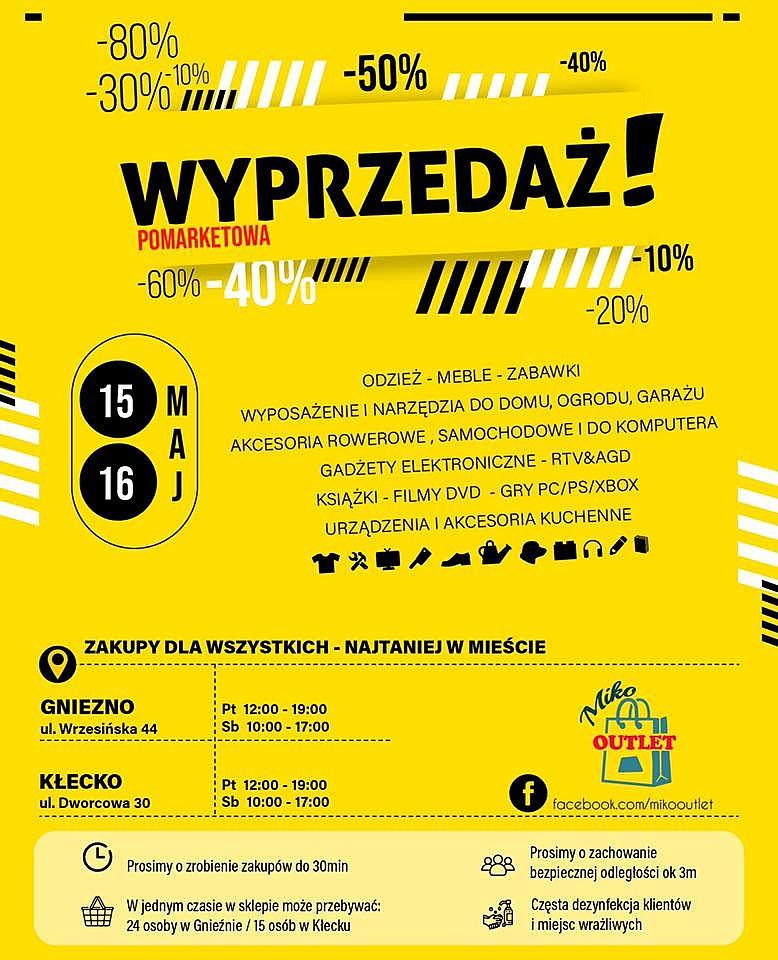 MIKO wyprzedaże pomarketowe zapraszają na zakupowe szaleństwo w Gnieźnie i Kłecku!