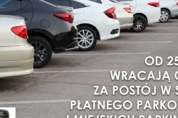 Ponowne uruchomienie opłat w strefie płatnego parkowania