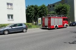 Zwarcie instalacji elektrycznej powodem małego pożaru przy ul. Budowlanych