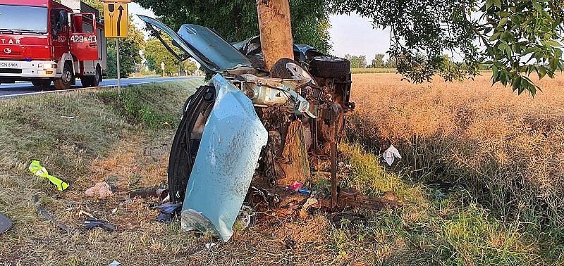 21-latek, który spowodował tragiczny wypadek w Lednogórze był pijany!