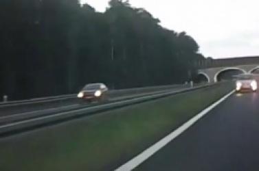 Pijany 77-latek jechał pod prąd drogą ekspresową - video