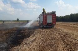 Pożar ścierniska w Kamionce