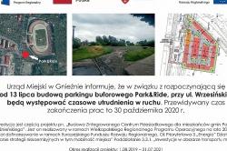 Dzisiaj i jutro utrudnienia w ruchu na ul. Wrzesińskiej w Gnieźnie