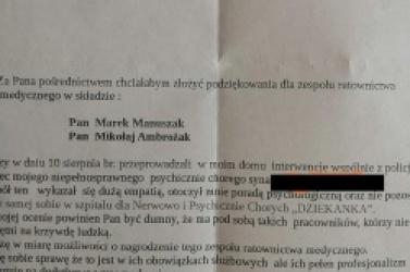 Podziękowania dla gnieźnieńskich ratowników medycznych