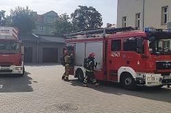 Pożar w Komendzie Powiatowej Policji w Gnieźnie! Ewakuowano budynek