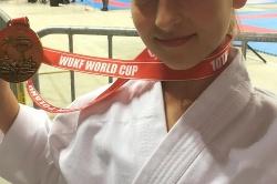 Złoty medal Jolanty Woźniak w Pucharze Świata Karate WUKF
