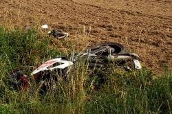 Wypadek motocyklisty w Sławnie