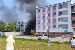 Pożar śmietników przy ul. Warzywnej