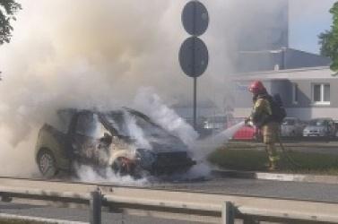 Pożar samochodu na ul. Poznańskiej