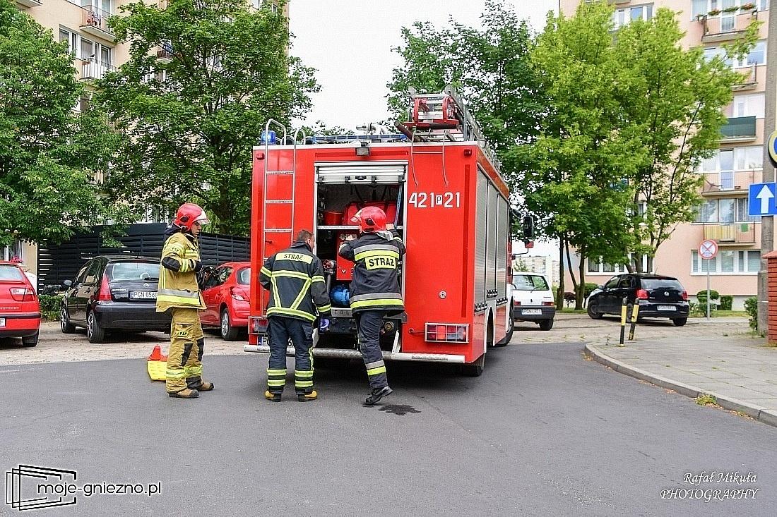 Gorący olej powodem pożaru mieszkania przy ul. Sobieralskiego