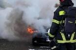 Pożar BMW
