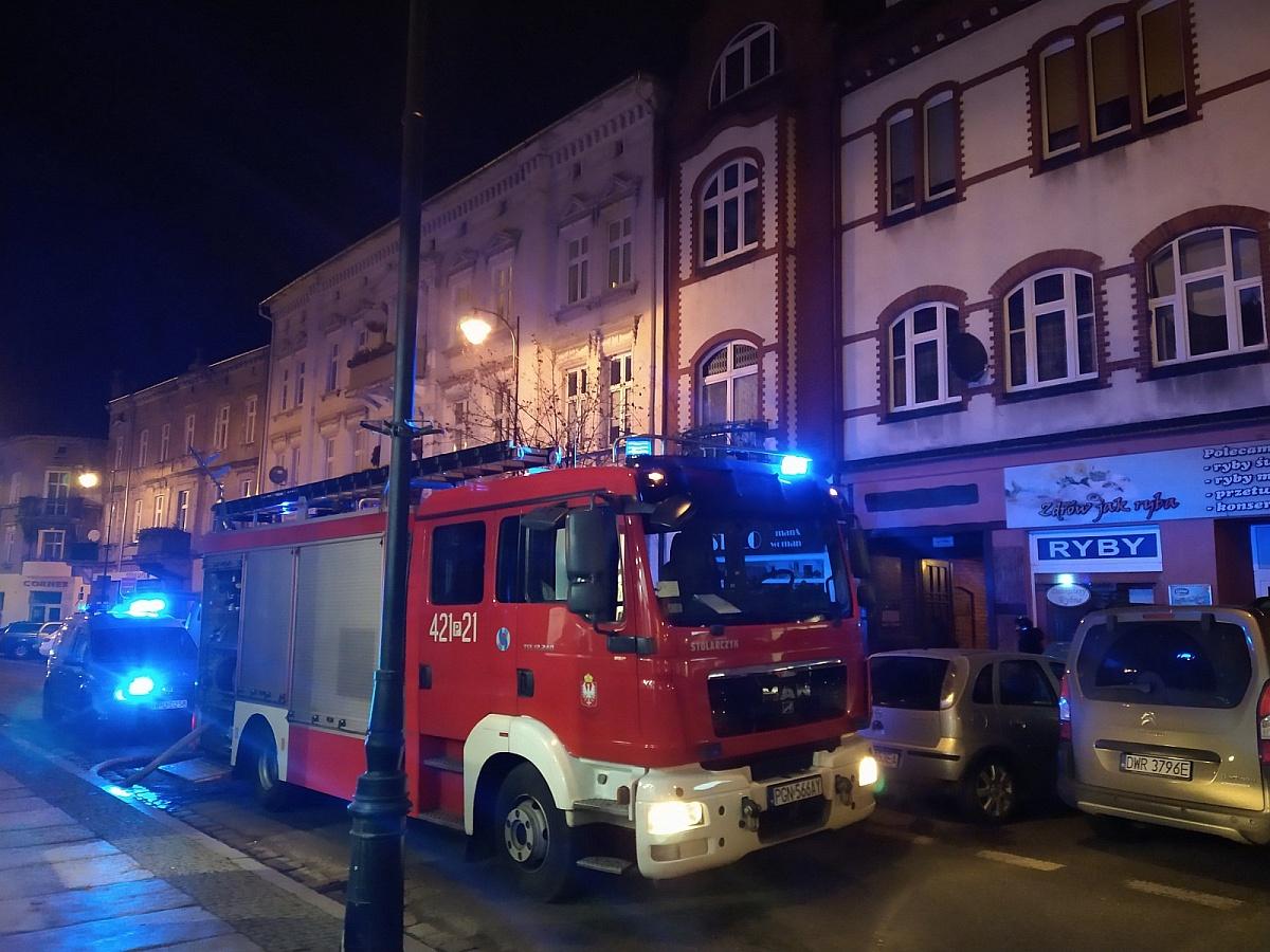 Pożar kamienicy przy ul. Warszawskiej