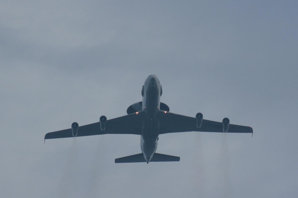 Samolot AWACS ponownie nad naszym powiatem
