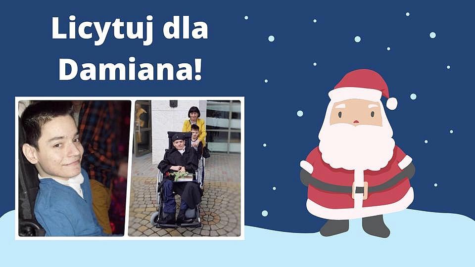Postawmy Damiana na nogi! - licytacje świąteczne