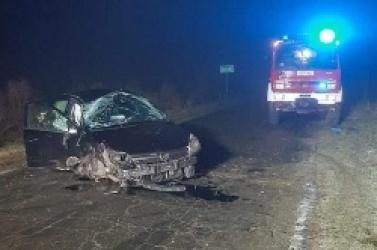 Wypadek między Osińcem a Szczytnikacmi Duchownymi! Auto z dużą siłą uderzyło w drzewo!