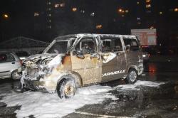 Pożar samochodu na os. Jagiellońskim