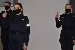 Ślubowanie nowo przyjętych policjantów