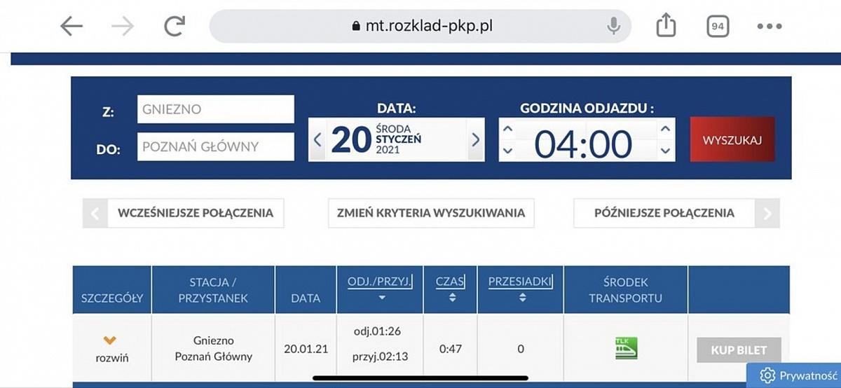Konsultacje dotyczące rozkładu jazdy pociągów